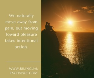_We naturally move away from pain, but moving